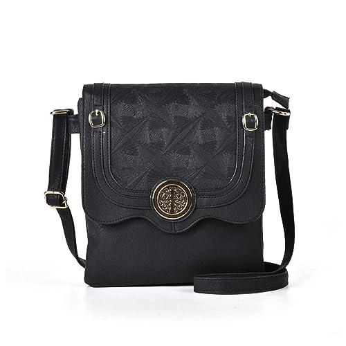 GLITZALL Women PU Leather shoulder bag Vintage handbag Flap-Over Crossbody  bag (5145- 017d41451b32e