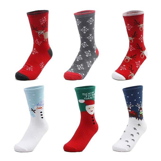 Hyf Socks Calcetines De Las Mujeres Japonés Harajuku Calcetines De Navidad Calcetines De Algodón Santa Elk