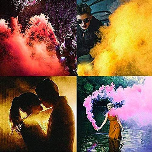 5pcs Colorful Smoke Magic Fun Toy Accessories Fireworks Scene Background Photography Props Magic Smoke Cake Color Random by Santree (Image #4)