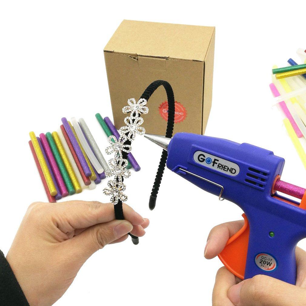 Hot Glue Gun Sticks GoFriend 100pcs 11 Colors Hot Melt Adhesive Glue Stick Mini Glitter for DIY Art Craft & Sealing and Quick Repair, 7mm x 100mm by GoFriend (Image #7)