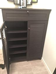 Baxton Studio Harding Shoe-Storage Cabinet, Espresso: Amazon.ca ...
