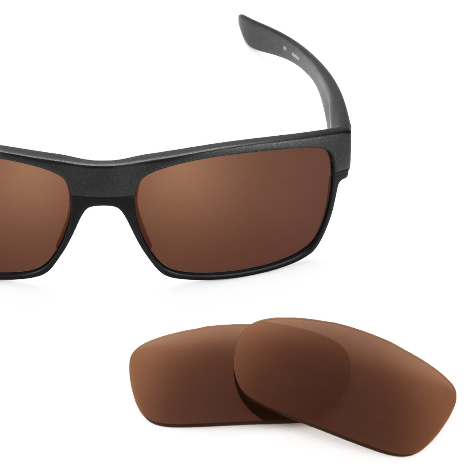 Revant Polarized Replacement Lenses for Oakley TwoFace Dark Brown