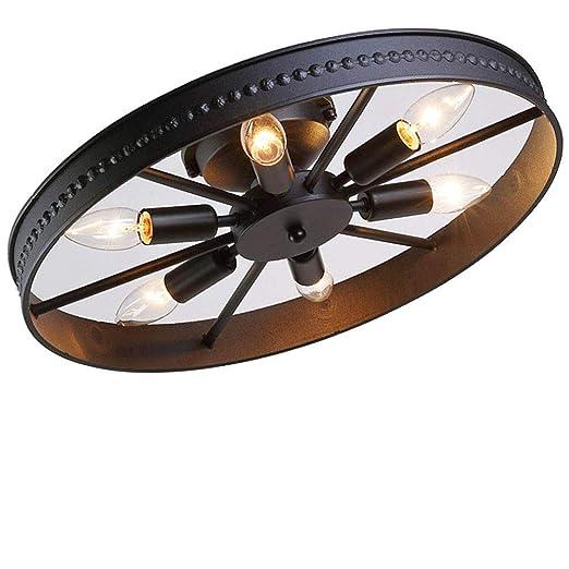 Vintage rueda plafón retro redondo lámpara de techo payasadas ...