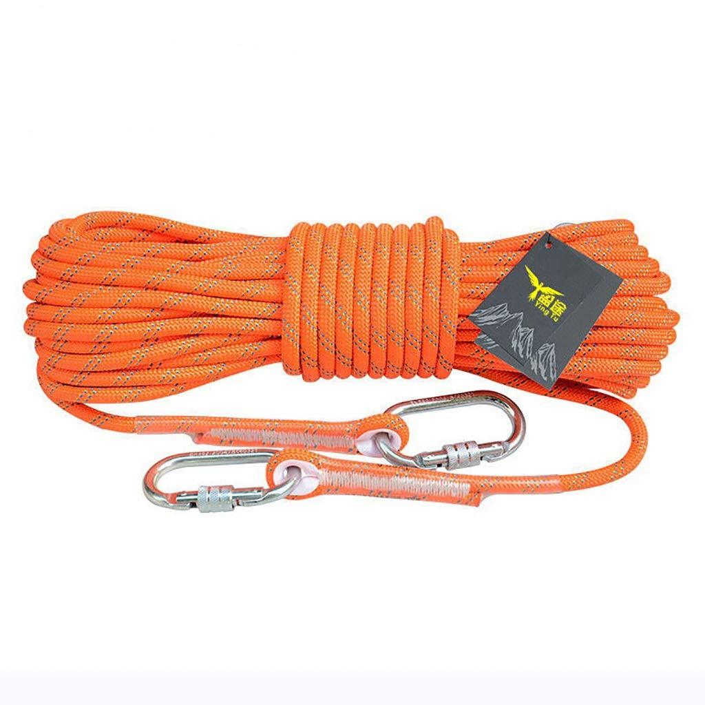 12MM LIZIPYS Cordes Corde d'escalade Corde de sécurité extérieure Corde d'escalade Ligne de Vie Corde d'évacuation en Nylon résistant à l'usure 8mm (0.31 )   10.5mm (0.41 )   12mm (0.47 ) 328FT
