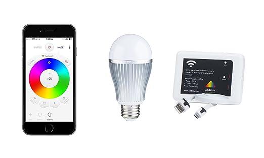 Nabe 9W + Genie 9W Smart Bulb Wifi Color Changing Lights 16  sc 1 st  Amazon.com & Nabe 9W + Genie: 9W Smart Bulb Wifi Color Changing Lights 16 ... azcodes.com
