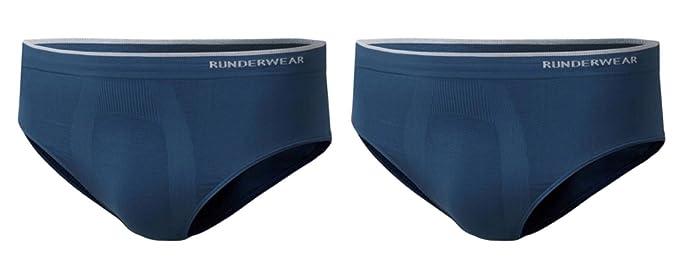 Runderwear - Calzoncillos para Hombre, 2 Pares, sin Costuras, sin Cadena, Ropa