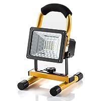 Projecteur LED Rechargeable Super Lumineuse 15W Floodlight Torche Lampe 7 Heure Work Light sans Fil Portable pour Chantier Garage Bricolage Travaux