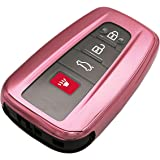 Pink TPU 3/4 Buttons Key Fob Cover Case Remote Holder Skin Protector Jacket for 2018 2019 2020 Toyota Camry RAV4 Avalon…