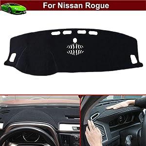 New 1pcs Black Non-Slip Dash Mat Dashboard Mat Dash Carpet Dash Covers Dashboard Cover Custom Fit for Nissan Rogue 2014 2015 2016 2017 2018 2019 2020