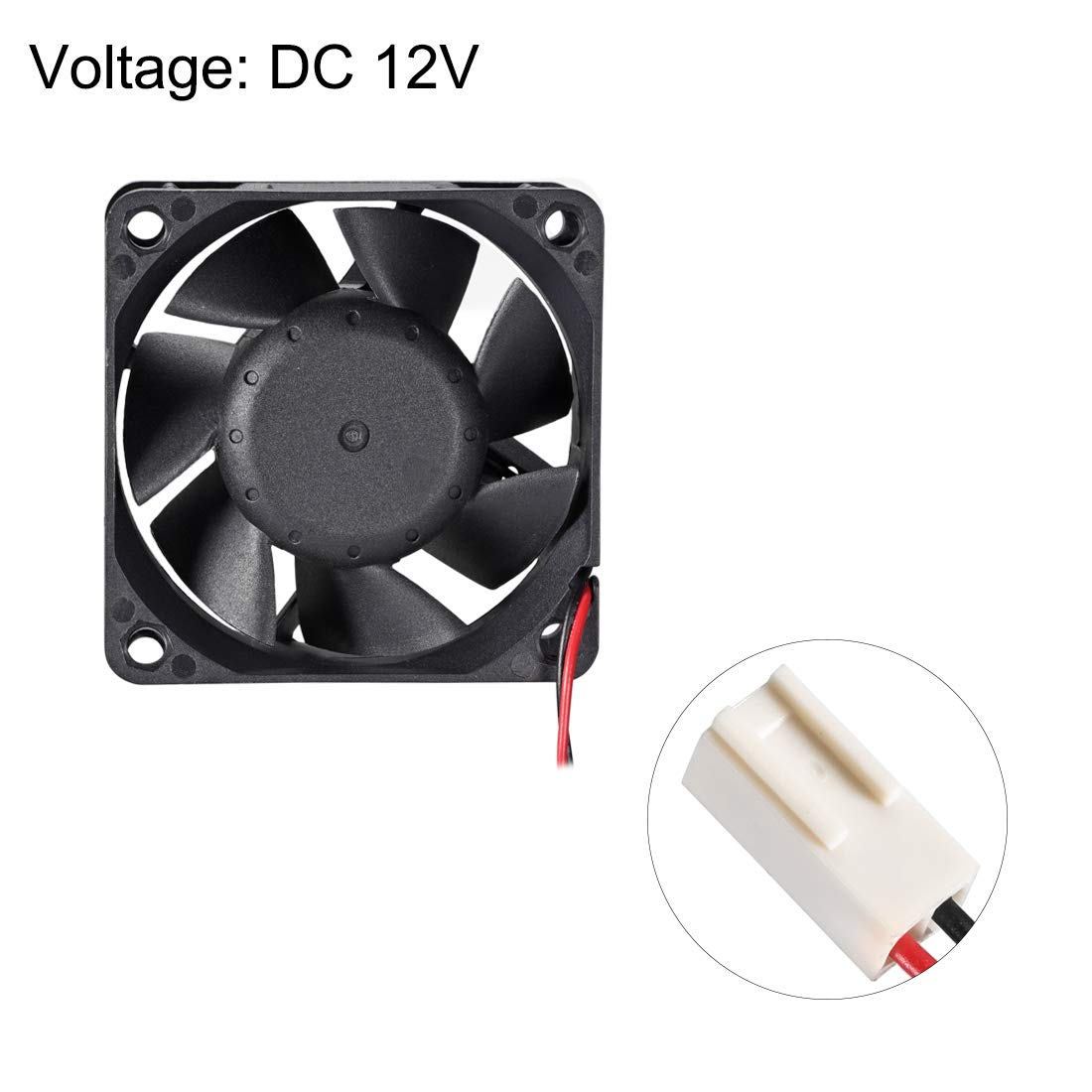 uxcell SNOWFAN Authorized 60mm x 60mm x 25mm 12V Brushless DC Cooling Fan Y-Y6025H12S