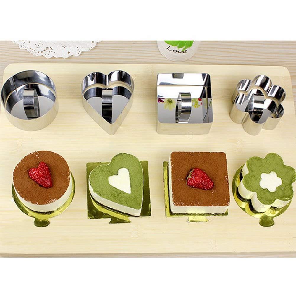 Rocita Edelstahl Backformen Set von 6 Dessert Kuchen Mousse-Form ...