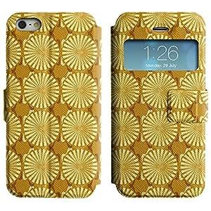LEOCASE círculos lindos Funda Carcasa Cuero Tapa Case Para Apple iPhone 5 / 5S No.1002684