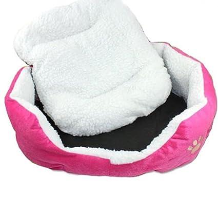 Digiflex Cama para Perritos Rosa Tamaño Pequeño a Mediano para Cachorros con Suave Relleno Interior de
