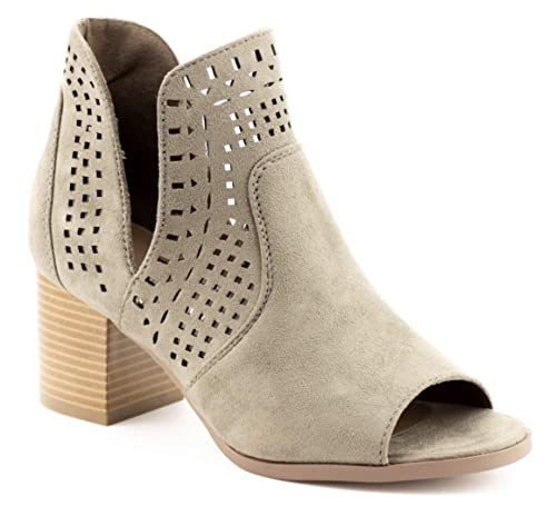 5c0c8213a99bc CALICO KIKI Women's Peep Toe Cut Out Fashion Ankle Booties: Amazon ...