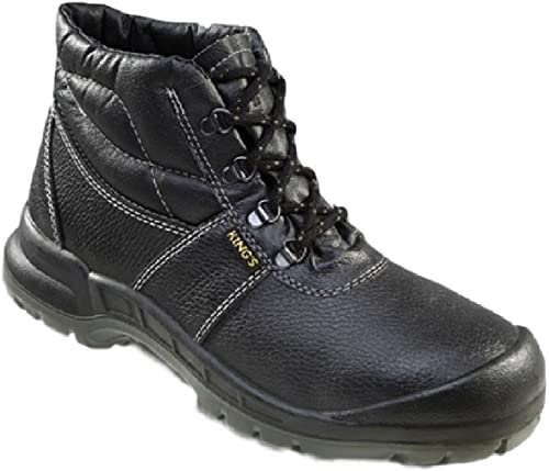 entire collection buy popular classic styles Grafters King's Mens Safety Boots Extra Wide EEEE Fit (41, Black ...