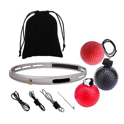 Kopfband Cotrdocigh Fighting Ball Training Hand Auge Koordination mit Tragbare Boxen Punch Ball Reaktion zu Verbessern und Speed f/ür Training und Fitness