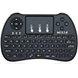 Mitid 2.4GHz Wireless Mini Keyboard with Mouse Touchpad Combos for Google Android TV Box, IPTV, HTPC, Black