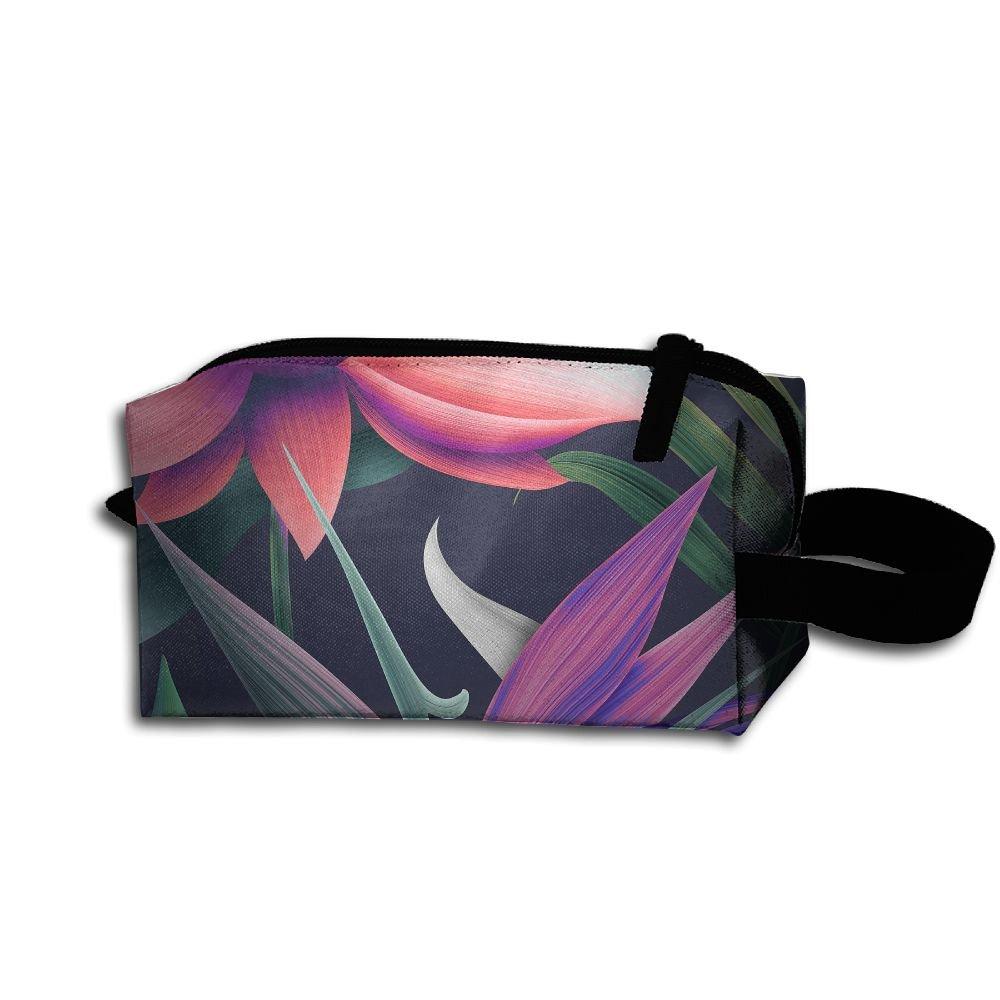 メイクアップコスメティックバッグ花柄3d Medicine Bag Zip旅行ポータブルストレージポーチforメンズレディース B07DWPHD4K