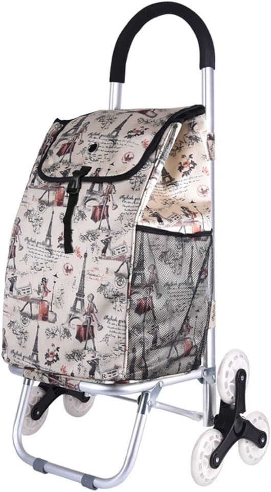 Color : D CHenXin Staircase Shopping Luggage Foldable Portable Padded Waterproof Bag Aluminum Luggage Cart Trolley Trailer Can Withstand 50Kg Weight Dolly cart