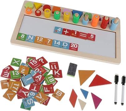 SM SunniMix 6 En 1 Juguete De Juego Montessori Learning para Niños, Habilidades Prácticas para La Vida, Niños De Preescolar De Jardín De Infa: Amazon.es: Juguetes y juegos