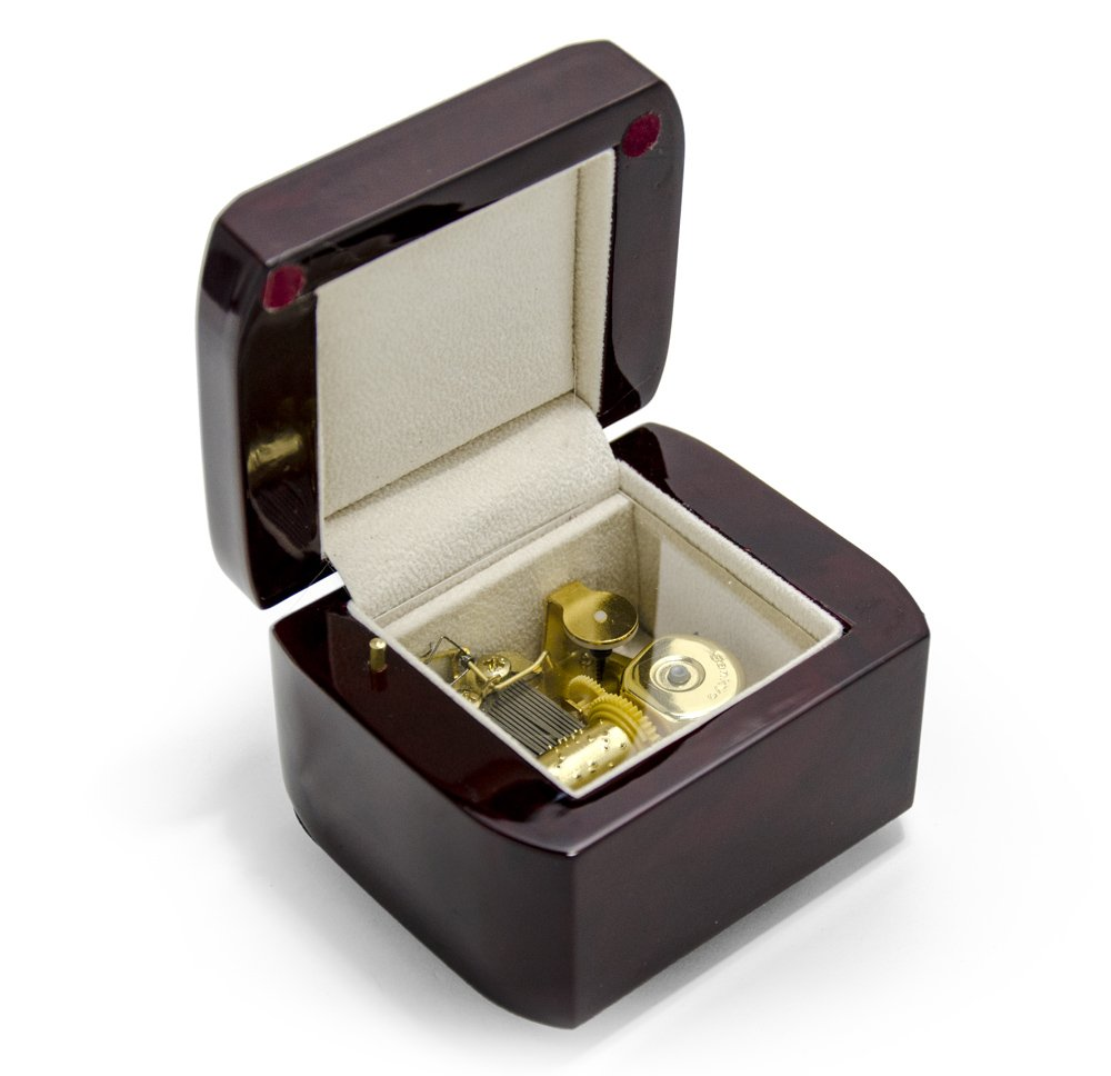 Hi Gloss Modern Petite 18 Note Music Box With Cut Edges - Over 400 Song Choices - Can't Help Falling In Love with You by MusicBoxAttic (Image #3)