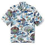 Reyn Spooner Men's Los Angeles Dodgers MLB Classic Fit Hawaiian Shirt, Scenic 2019, Small