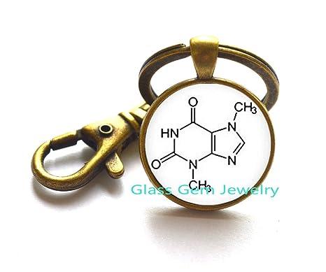 Bioquímica logotipo llavero llavero moda química imagen ...