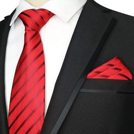 MU Leisure Men S Tie New 7Cm Floral Red Tie Set Corbata Pañuelo ...