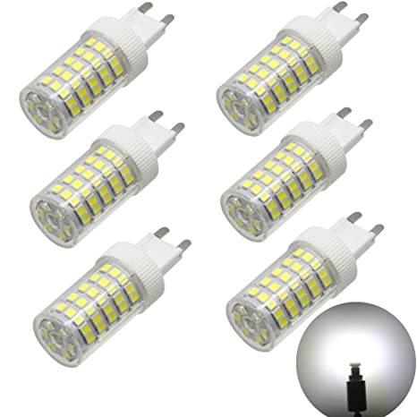 G9 Bombilla LED Leuchtmittel 10 W para halógenos de 80 W, blanco frío 6000 K