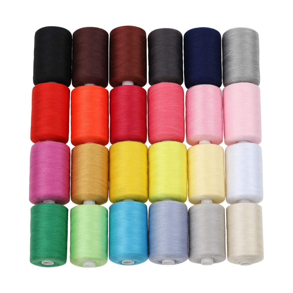 HAITRAL Sewing Thread 24 Colors 1000 Yards Polyester Each Thread Spools For Sewing Machine (HT_SK04) 4337017251