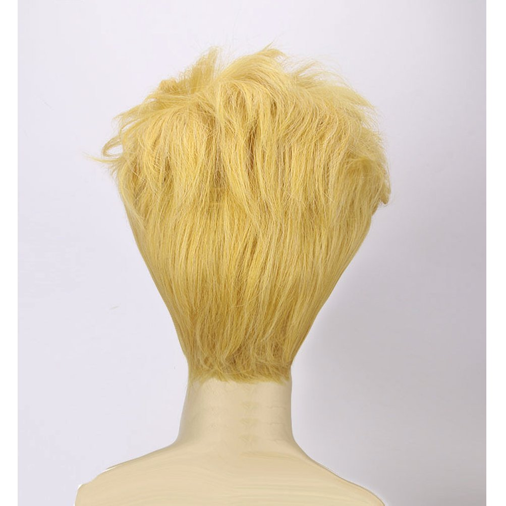 BERON Men Boys Short Blonde Cosplay Wigs-Rose Intranet by BERON (Image #4)