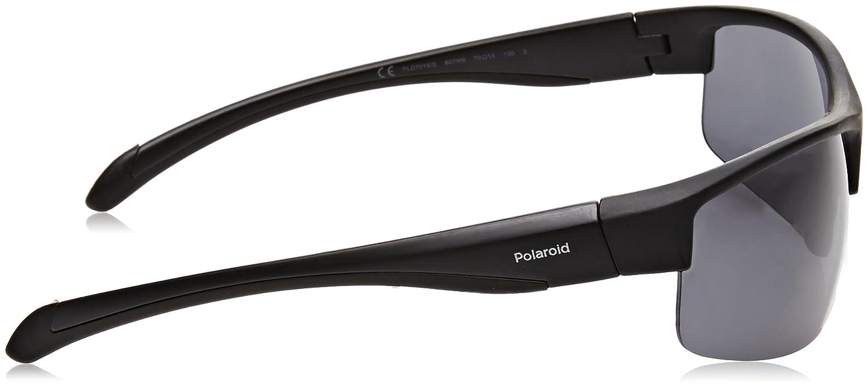 Amazon.com: POLAROID SUNGLASSES PLS 7019 S 807 M9 BLACK ...