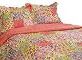 Best Greenland Home Home Fashion Pinks - Pegasus Home Fashions Vintage Collection Madeline Reversible Quilt/Sham Review
