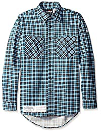 Bulwark Men's Big and Tall Plaid Uniform Shirt