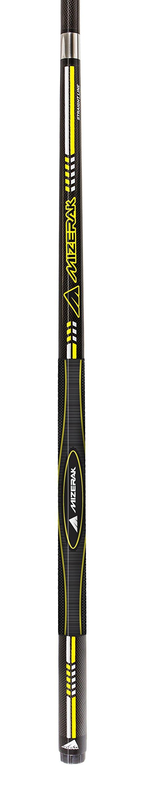Mizerak 58'' 2-Piece Black Premium Carbon Composite 3D Grip Cue with Straight Line Technology