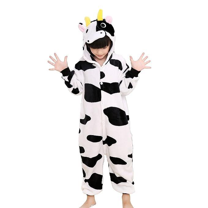 Unisex Children Animal Pajamas One-Piece Cosplay Sleepwear Onesies Pajamas Nightwear (3-4