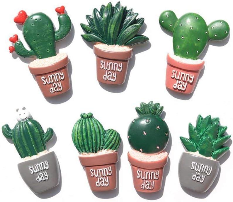 Cactus Magnets Refrigerator Magnet Fridge Magnet Cactus Kitchen Magnets Cute Magnets (7 pieces)