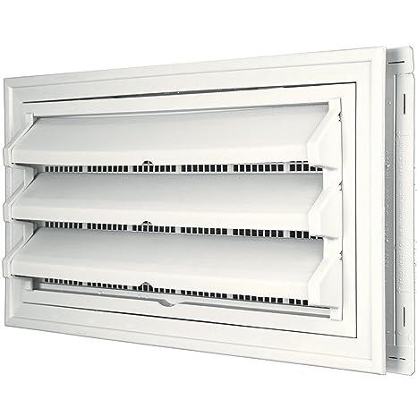 Constructores borde 140036410123 Fundación Kit de ventilación – Anillo Embellecedor y persiana fija Opción (moldeado