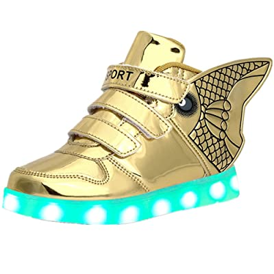11 Lighting High-Top Light Up Shoes LED Sneakers for Girls Boys Christmas Halloween Birthday
