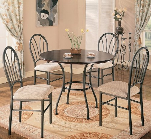 5pc-dining-table-and-chairs-set-metal-base-rich-dark-brown-finish