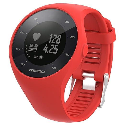 JKfine - Correa para Polar M200 - Moda Deportes Banda de Silicona Pulsera para Polar M200 Fitness Watch: Amazon.es: Relojes
