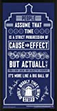 Doctor Who Wibbly Wobbly Timey Wimey Quote Tardis Blue Illustration Sci Fi British TV Television Show Print (Framed 12x24 Poster)