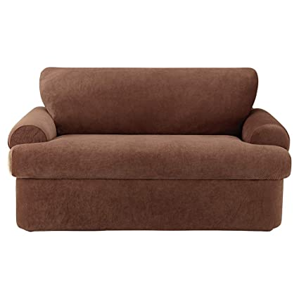 Amazon Com Surefit Stretch Pique 3 Piece Sofa Slipcover