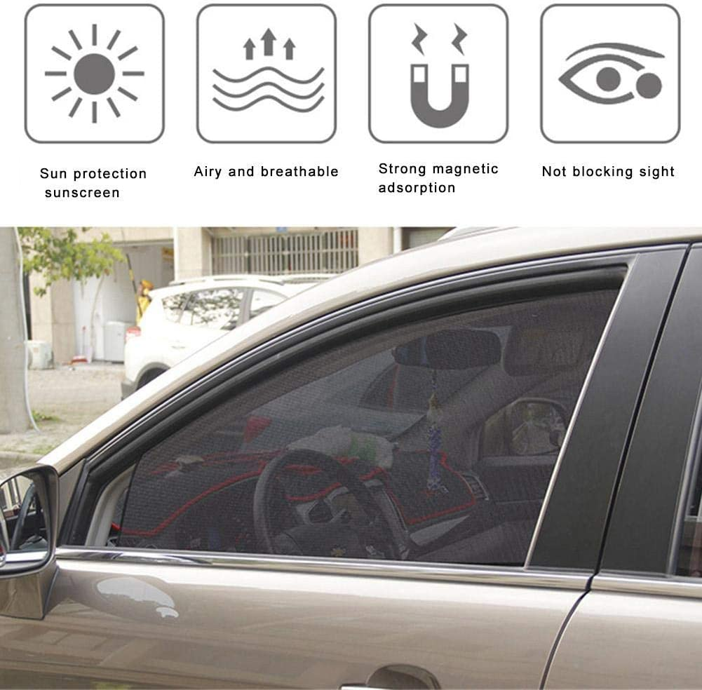 FGF-EU Parasole Magnetico per Auto Tendina Parasole per finestrini Laterali in Rete Protezione Estiva Protezione dai Raggi UV