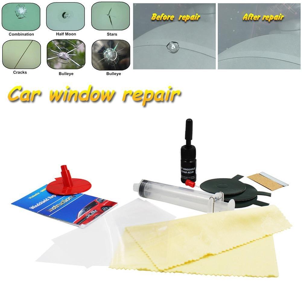vetro incrinato kit di riparazione Kit riparazione parabrezza riparazione vetri auto lucidatura parabrezza vetro renwal strumenti riparazione crepa auto scratch nero crepa riparazione fai-da-te