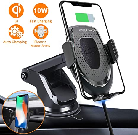 Note9//9+//8 X,Xmax,XS,S5 Fast Car Charger Wireless for S9 S8 S8 Automatic Smart Sensor Car Wireless Charger for Iphone8,8P