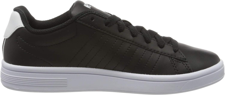 K-Swiss Court Shield, Sneakers Basses Femme Noir Black White 002
