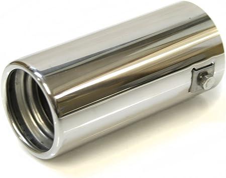 Endrohr Auspuff Blende Auspuffrohr Edelstahl Chrom Auspuffendrohr Universell Schalldampf Endstück Endrohrblende Sportauspuff Optik Tuning 43 57mm Auto
