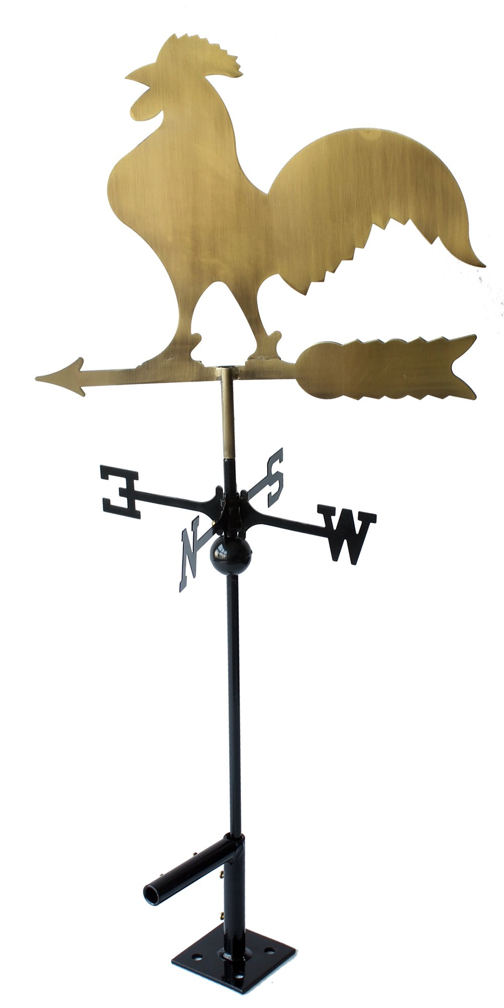 Classic 32'' Tall Metal Copper Color Rooster Weathervane with Adjustable Roof Mount …