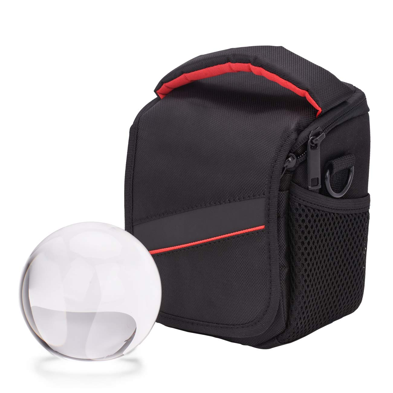 MerryNine Crystal Ball with Ball Case Bag Set, K9 Crystal Photography Ball, Including Microfiber Pouch and Ball Manual, Perfect Photography Accessories (90mm/3.54'')